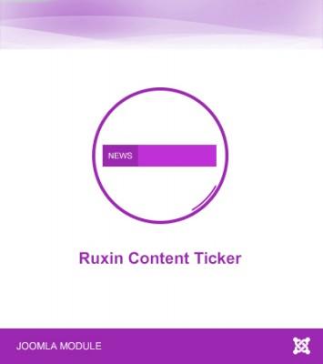 Ruxin Content Ticker